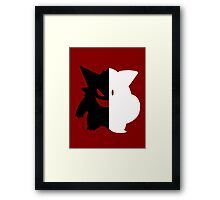 Pokemon Clefairy&Gengar Mashup Clengar Framed Print