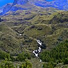 Dos Chorreros In the Cajas Range Of The Andes by Al Bourassa