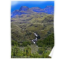 Dos Chorreros In the Cajas Range Of The Andes Poster