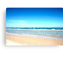 Pixel Beach Canvas Print