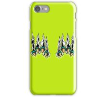 Ripping Monster Claws Demon Inside Green Teal iPhone Case/Skin
