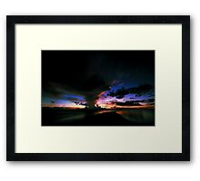 coloured clouds Framed Print