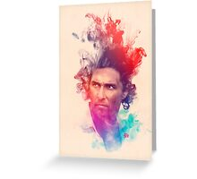 Matthew McConaughey Ink Watercolor Splash Portrait True Detective Greeting Card