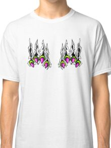 Ripping Monster Claws Demon Within Lime and Pink Classic T-Shirt