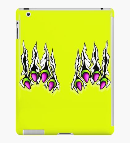 Ripping Monster Claws Demon Within Lime and Pink iPad Case/Skin