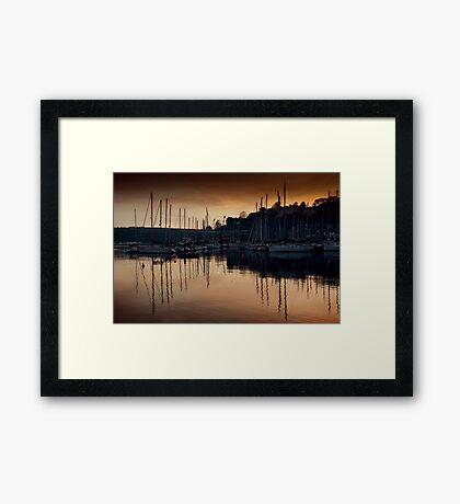 Kinsale Glows In The Winter Sunlight Framed Print