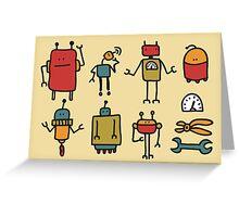 Retro robots. Greeting Card