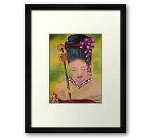 Geisha Doll Framed Print