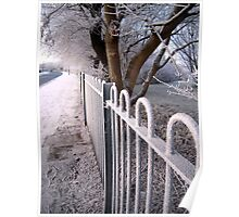 Frosted Fence Poster