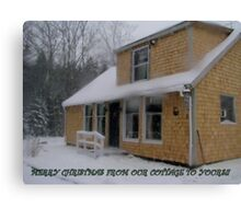 Our Winter Cottage Canvas Print
