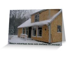 Our Winter Cottage Greeting Card