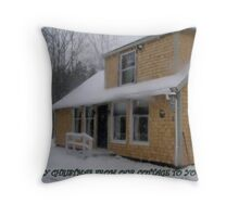Our Winter Cottage Throw Pillow