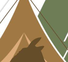 Alpaca Tent Sticker