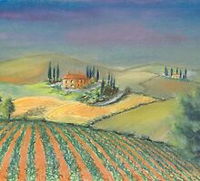 A tuscan landscape in evening light by WILT