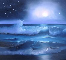 Midnight Moon Glow by sherrywinkler