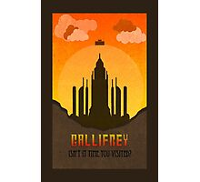 Gallifrey Minimalist art travel Poster Dr Who Photographic Print