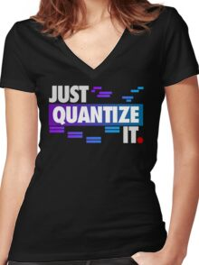 Just Quantize It (Color Edition) Women's Fitted V-Neck T-Shirt
