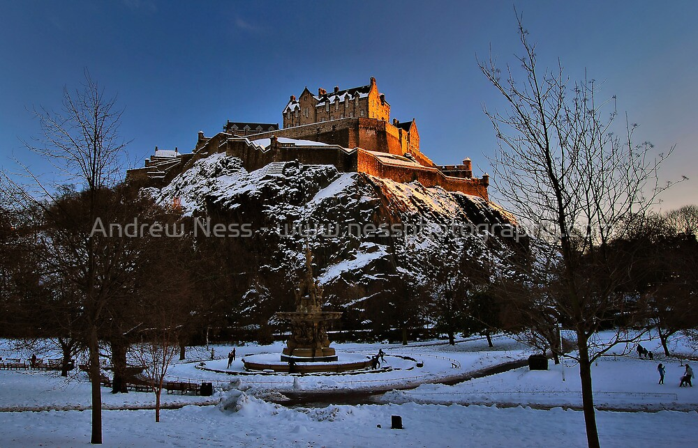 Wintry Edinburgh Castle by Andrew Ness - www.nessphotography.com