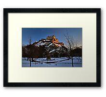 Wintry Edinburgh Castle Framed Print