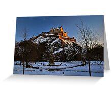 Wintry Edinburgh Castle Greeting Card