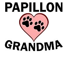 Papillon Grandma Photographic Print