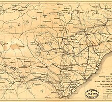 Civil War Sherman's March from Atlanta to Goldsboro Map by allhistory