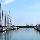 Sailboats in the Harbor by WeeZie