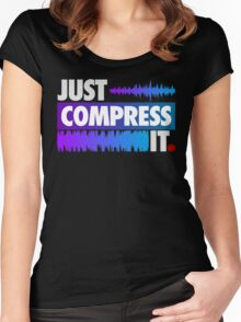 Just Compress It (Color Edition) Women's Fitted Scoop T-Shirt
