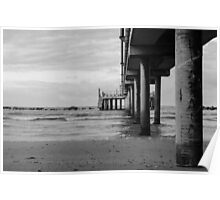 Seascape in Italy Black And White Poster