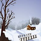Winter landscape by Colin Cramm