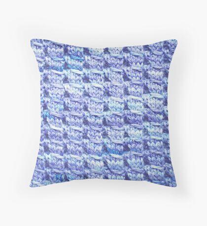 Handknit Block Fabric Throw Pillow