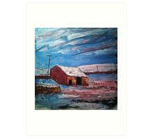 'Field Barn, Hebden' Art Print