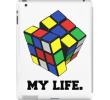 "Rubix Cube (Complex), ""My Life."" Quote iPad Case/Skin"