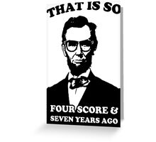 Lincoln Hipster Greeting Card