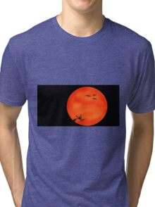 Orange Sunset Tri-blend T-Shirt