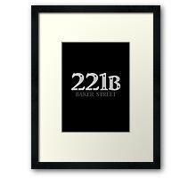 Sherlock - 221B Baker Street Framed Print