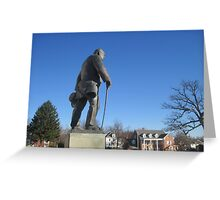 Churchill Statue Greeting Card