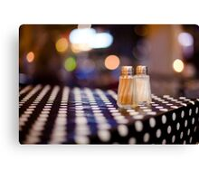 salt, pepper and white dots Canvas Print