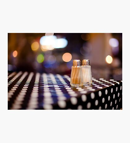 salt, pepper and white dots Photographic Print