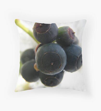 Snow Berries Throw Pillow