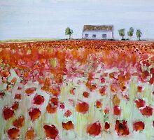 Poppy Fields by Sandrine Pelissier