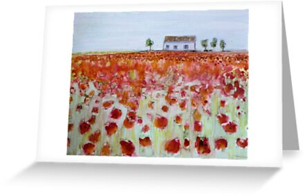 Poppy Fields by Sandrine Pelissier