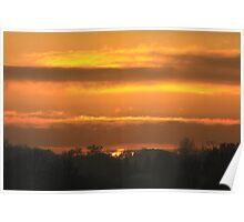 Norfolk Sunset Poster