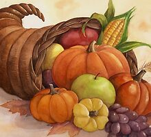 Cornucopia - harvest bounty. by lizblackdowding
