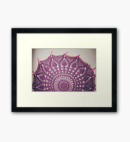 Big Purple Doily Framed Print