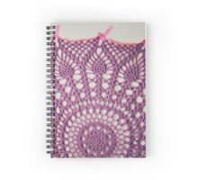 Big Purple Doily Spiral Notebook