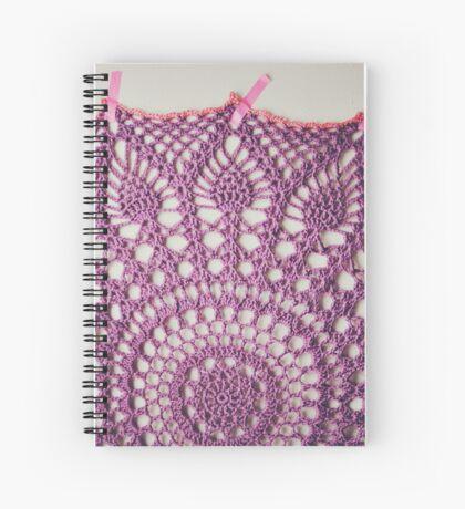 Big Purple Doily Spiral Notebook