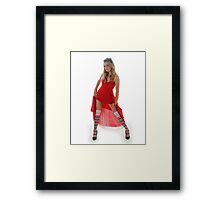 The Queen of Hearts is such a tart Framed Print