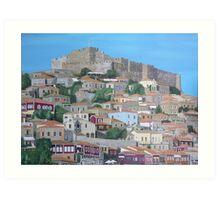 Molyvos, Lesvos, Greece Art Print