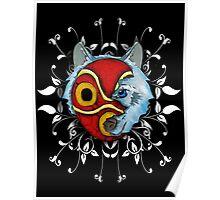 Princess Mononoke masked wolf Poster